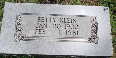 KLEIN, BETTY - Baxter County, Arkansas | BETTY KLEIN - Arkansas Gravestone Photos