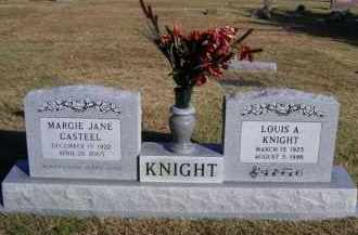 CASTEEL KNIGHT, MARGIE JANE (OBIT) - Baxter County, Arkansas | MARGIE JANE (OBIT) CASTEEL KNIGHT - Arkansas Gravestone Photos