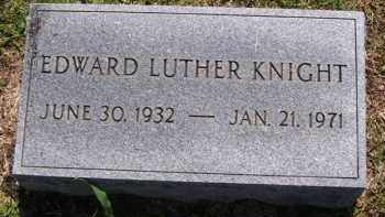 KNIGHT (VETERAN), EDWARD LUTHER (OBIT) - Baxter County, Arkansas | EDWARD LUTHER (OBIT) KNIGHT (VETERAN) - Arkansas Gravestone Photos