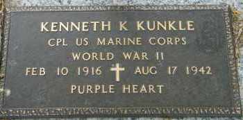 KUNKLE (VETERAN WWII), KENNETH K - Baxter County, Arkansas | KENNETH K KUNKLE (VETERAN WWII) - Arkansas Gravestone Photos