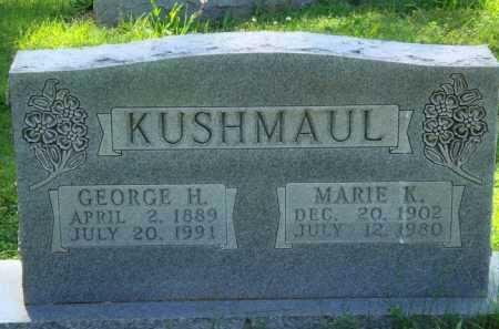 KUSHMAUL, GEORGE H. - Baxter County, Arkansas | GEORGE H. KUSHMAUL - Arkansas Gravestone Photos