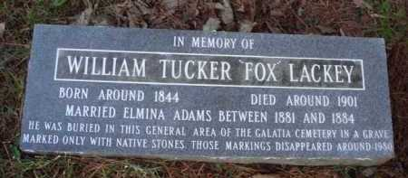 "LACKEY, WILLIAM TUCKER ""FOX"" - Baxter County, Arkansas | WILLIAM TUCKER ""FOX"" LACKEY - Arkansas Gravestone Photos"