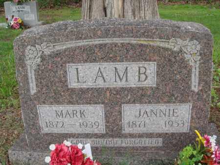 LAMB, JANNIE - Baxter County, Arkansas   JANNIE LAMB - Arkansas Gravestone Photos