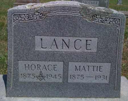 LANCE, HORACE - Baxter County, Arkansas | HORACE LANCE - Arkansas Gravestone Photos