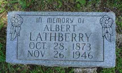 LATHBERRY, ALBERT - Baxter County, Arkansas   ALBERT LATHBERRY - Arkansas Gravestone Photos