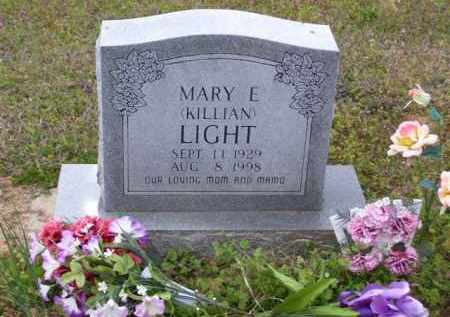 KILLIAN LIGHT, MARY E. - Baxter County, Arkansas | MARY E. KILLIAN LIGHT - Arkansas Gravestone Photos