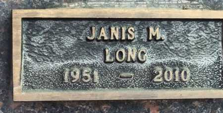 LONG, JANIS M - Baxter County, Arkansas | JANIS M LONG - Arkansas Gravestone Photos