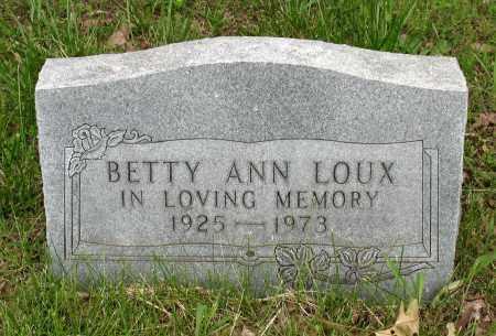 LOUX, BETTY ANN - Baxter County, Arkansas | BETTY ANN LOUX - Arkansas Gravestone Photos
