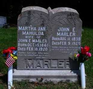 WHITE  MARLER, MARTHA ANN - Baxter County, Arkansas | MARTHA ANN WHITE  MARLER - Arkansas Gravestone Photos