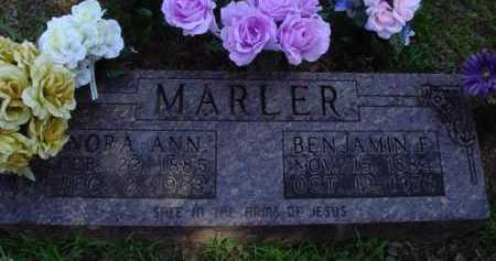 MARLER, NORA ANN - Baxter County, Arkansas   NORA ANN MARLER - Arkansas Gravestone Photos
