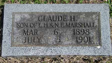 MARSHALL, CLAUDE H - Baxter County, Arkansas | CLAUDE H MARSHALL - Arkansas Gravestone Photos