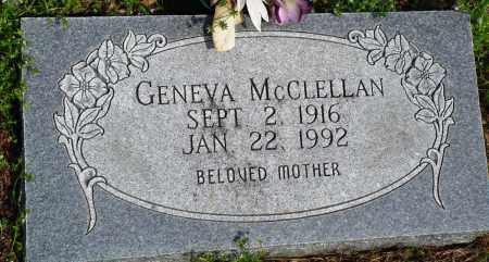 MCCLELLAN, GENEVA - Baxter County, Arkansas   GENEVA MCCLELLAN - Arkansas Gravestone Photos