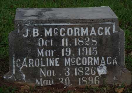 MCCORMACK, J. B. - Baxter County, Arkansas | J. B. MCCORMACK - Arkansas Gravestone Photos