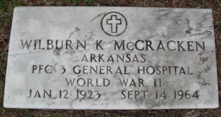 MCCRACKEN (VETERAN WWII), WILBURN K - Baxter County, Arkansas | WILBURN K MCCRACKEN (VETERAN WWII) - Arkansas Gravestone Photos