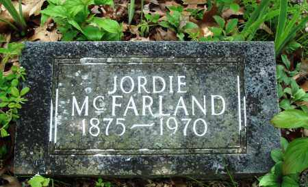 MCFARLAND, JORDIE - Baxter County, Arkansas | JORDIE MCFARLAND - Arkansas Gravestone Photos