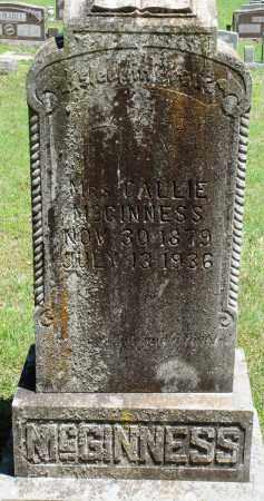MCGINNESS, CALLIE - Baxter County, Arkansas   CALLIE MCGINNESS - Arkansas Gravestone Photos