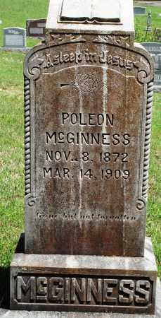 MCGINNESS, POLEON - Baxter County, Arkansas | POLEON MCGINNESS - Arkansas Gravestone Photos