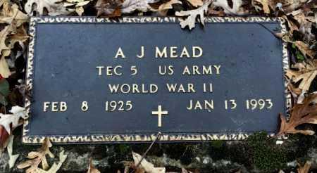 MEAD (VETERAN WWII), A. J. - Baxter County, Arkansas   A. J. MEAD (VETERAN WWII) - Arkansas Gravestone Photos