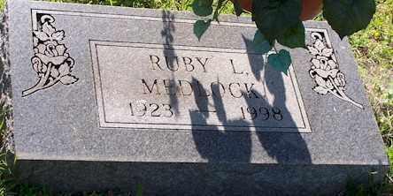 MEDLOCK, RUBY L - Baxter County, Arkansas | RUBY L MEDLOCK - Arkansas Gravestone Photos