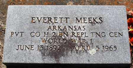 MEEKS (VETERAN WWI), EVERETT - Baxter County, Arkansas | EVERETT MEEKS (VETERAN WWI) - Arkansas Gravestone Photos
