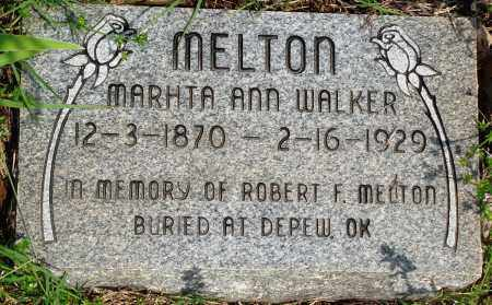 WALKER MELTON, MARTHA ANN - Baxter County, Arkansas | MARTHA ANN WALKER MELTON - Arkansas Gravestone Photos