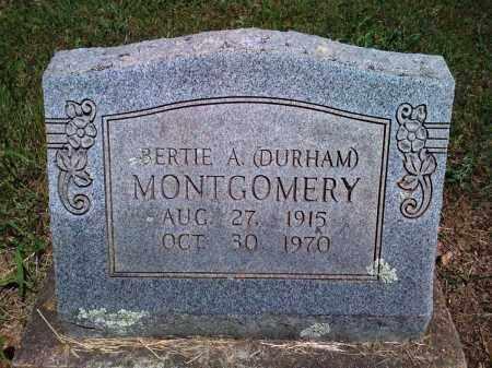 DURHAM MONTGOMERY, BERTIE A - Baxter County, Arkansas | BERTIE A DURHAM MONTGOMERY - Arkansas Gravestone Photos