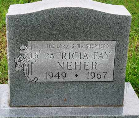 NEHER, PATRICIA FAY - Baxter County, Arkansas   PATRICIA FAY NEHER - Arkansas Gravestone Photos