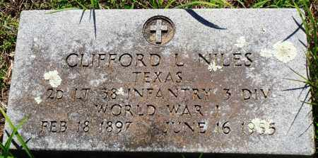 NILES (VETERAN WWI), CLIFFORD L - Baxter County, Arkansas | CLIFFORD L NILES (VETERAN WWI) - Arkansas Gravestone Photos