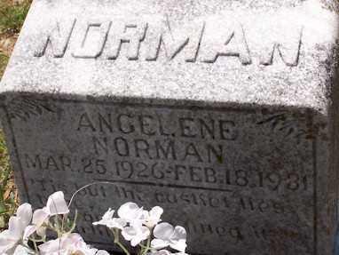 NORMAN, ANGELENE - Baxter County, Arkansas | ANGELENE NORMAN - Arkansas Gravestone Photos