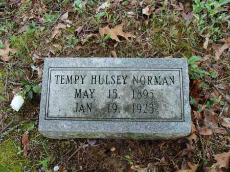 HULSEY NORMAN, TEMPY - Baxter County, Arkansas   TEMPY HULSEY NORMAN - Arkansas Gravestone Photos