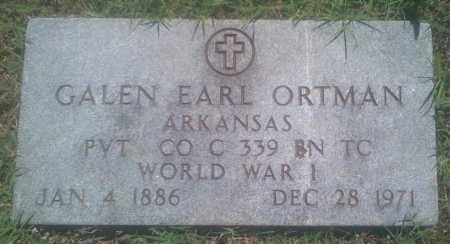 ORTMAN  (VETERAN WWI), GALEN EARL - Baxter County, Arkansas | GALEN EARL ORTMAN  (VETERAN WWI) - Arkansas Gravestone Photos