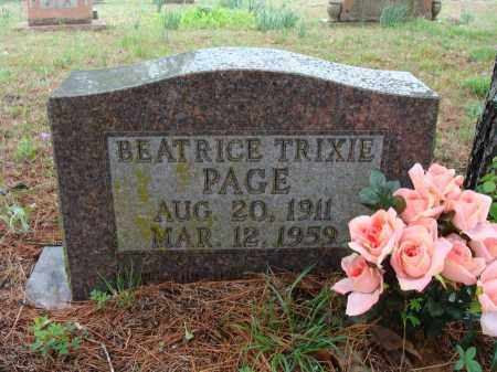 "WALLIS PAGE, BEATRICE ""TRIXIE"" - Baxter County, Arkansas 