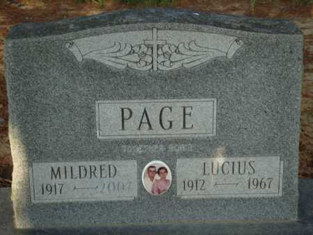 PAGE, MILDRED - Baxter County, Arkansas | MILDRED PAGE - Arkansas Gravestone Photos