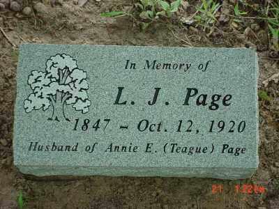 PAGE, L. J. - Baxter County, Arkansas | L. J. PAGE - Arkansas Gravestone Photos
