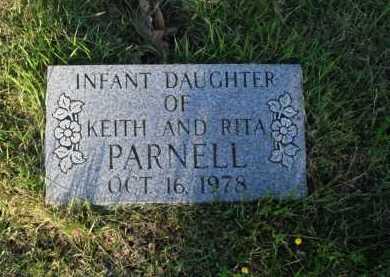PARNELL, INFANT DAUGHTER - Baxter County, Arkansas   INFANT DAUGHTER PARNELL - Arkansas Gravestone Photos