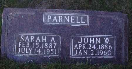 PARNELL, JOHN W. - Baxter County, Arkansas | JOHN W. PARNELL - Arkansas Gravestone Photos