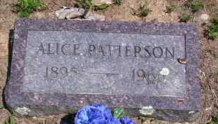 PATTERSON, ALICE MAE - Baxter County, Arkansas | ALICE MAE PATTERSON - Arkansas Gravestone Photos