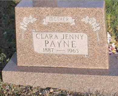 PAYNE, CLARA JENNY - Baxter County, Arkansas   CLARA JENNY PAYNE - Arkansas Gravestone Photos