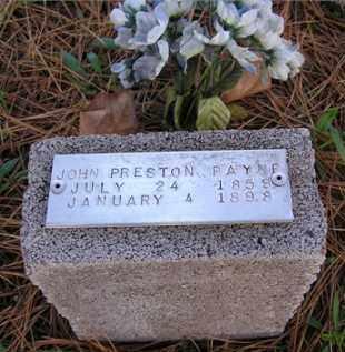 PAYNE, JOHN PRESTON - Baxter County, Arkansas   JOHN PRESTON PAYNE - Arkansas Gravestone Photos