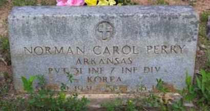 PERRY (VETERAN KOR, KIA), NORMAN CAROL - Baxter County, Arkansas | NORMAN CAROL PERRY (VETERAN KOR, KIA) - Arkansas Gravestone Photos
