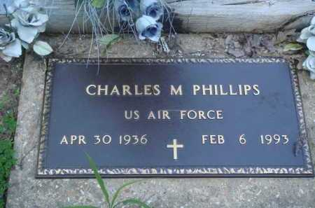 PHILLIPS (VETERAN), CHARLES M - Baxter County, Arkansas | CHARLES M PHILLIPS (VETERAN) - Arkansas Gravestone Photos