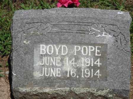 POPE, BOYD - Baxter County, Arkansas   BOYD POPE - Arkansas Gravestone Photos