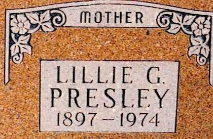 PRESLEY, LILLIE GERTRUDE - Baxter County, Arkansas | LILLIE GERTRUDE PRESLEY - Arkansas Gravestone Photos