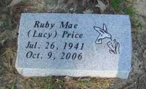 LUCY PRICE, RUBY MAE - Baxter County, Arkansas   RUBY MAE LUCY PRICE - Arkansas Gravestone Photos
