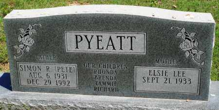 "PYEATT, SIMON R ""PETE"" - Baxter County, Arkansas | SIMON R ""PETE"" PYEATT - Arkansas Gravestone Photos"