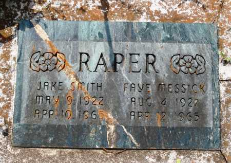 RAPER, JAKE SMITH - Baxter County, Arkansas | JAKE SMITH RAPER - Arkansas Gravestone Photos