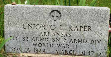 RAPER (VETERAN WWII), JUNIOR O L - Baxter County, Arkansas | JUNIOR O L RAPER (VETERAN WWII) - Arkansas Gravestone Photos