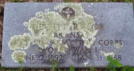 RASOR (VETERAN WWI), DEWITT - Baxter County, Arkansas | DEWITT RASOR (VETERAN WWI) - Arkansas Gravestone Photos