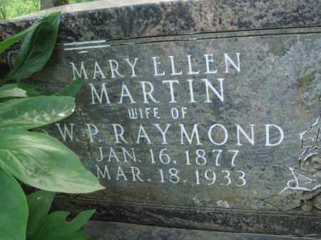 MARTIN RAYMOND, MARY ELLEN - Baxter County, Arkansas | MARY ELLEN MARTIN RAYMOND - Arkansas Gravestone Photos
