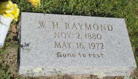 RAYMOND, W. H. - Baxter County, Arkansas   W. H. RAYMOND - Arkansas Gravestone Photos